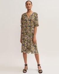 Jigsaw TAPESTRY FLORAL DRESS – floaty tie waist dresses