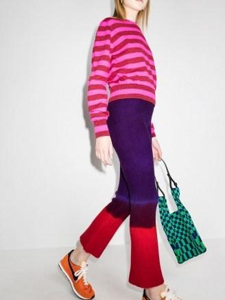 The Elder Statesman tie-dye knitted trousers