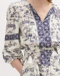 JIGSAW TOILE DE JOUY MAXI DRESS / classic English style prints