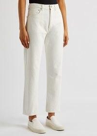 TOTÊME Off-white cropped straight-leg jeans   summer denim