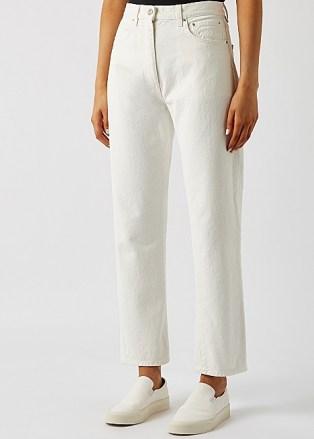 TOTÊME Off-white cropped straight-leg jeans | summer denim - flipped