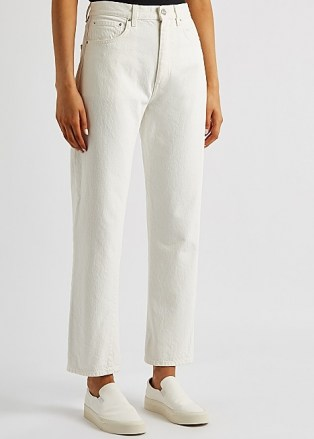 TOTÊME Off-white cropped straight-leg jeans | summer denim