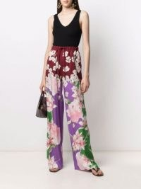 Valentino floral-print drawstring waist trousers