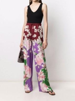Valentino floral-print drawstring waist trousers