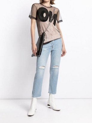 Viktor & Rolf No sheer tulle T-shirt / slogan tee - flipped