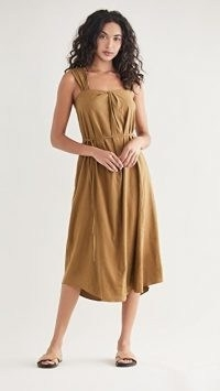Vince Poet Strap Knot Front Dress in Ojai