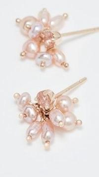 Wwake 14k Blush Pearl Cloudburst Earrings ~ light pink jewellery