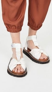 Zimmermann Bow Front Sandals Off White