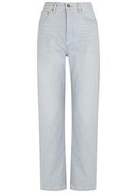 AGOLDE 90's Pinch Waist light blue straight-leg jeans | women's denim