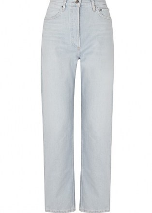 AGOLDE 90's Pinch Waist light blue straight-leg jeans   women's denim - flipped