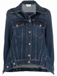 Alexander McQueen spread-collar denim jacket ~ womens classic casual jackets ~ modern classics