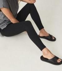 REISS ANNA PONTE JERSEY LEGGINGS BLACK / essential skinnies / loungwear / skinny lounge legging