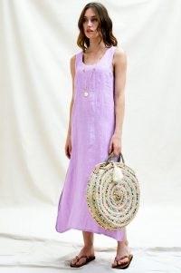 Aspiga BECKY PREMIUM LINEN MIDI DRESS ~ lilac sleeveless summer dresses