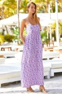 Aspiga LENU MAXI DRESS ~ women's strappy lilac racerback summer dresses