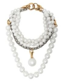AZ FACTORY pearl-embellished layered necklace | chunky multi strand necklaces | women's statement jewellery