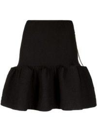 AZ FACTORY SuperTech-SuperChic Flower skirt | black ruffle hem skirts