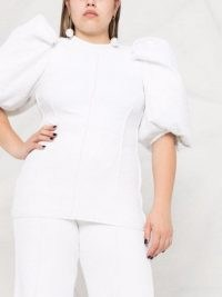 AZ FACTORY SuperTech-SuperChic puff-sleeve top   white extreme puffed sleeve tops