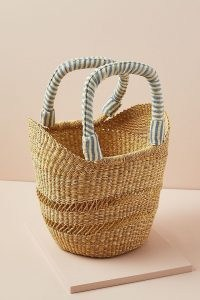 Indego Africa Bolga Tote Bag / chic woven elephant grass basket / summer bags