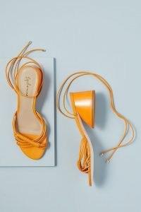 Guilhermina Asten Block-Heel Sandals Orange