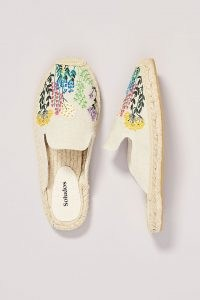Soludos Wildflower Mules / floral embroidered mule espadrilles / women's slip on summer flats