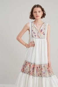 ANTHROPOLOGIE Shalini Sleeveless Midi Dress / cotton sleeveless floral dresses