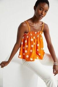 Current Air Polka Dot Swing Top Orange
