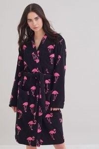 OAS Flamingo Robe / women's cotton animal print robes