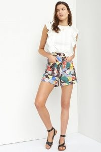 Corey Lynn Calter Floral Shorts / women's vintage inspired summer fashion / patchwork prints / multi print