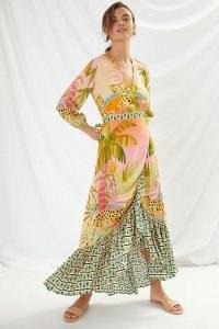 Farm Rio Amorina Wrap Maxi Dress / animal print dresses
