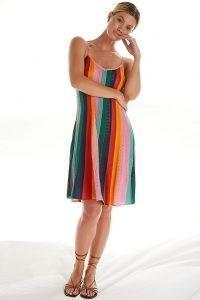 Farm Rio Crochet Mini Dress | skinny strap knitted dresses | womens summer knitwear | Anthropologie | strappy knits