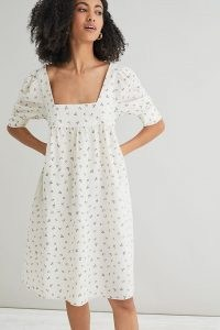Second Female Square Neck Midi Dress | women's white cotton floral dresses | womens summer clothing at Anthropologie