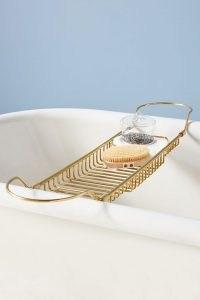 ANTHROPOLOGIE Bridgette Storage Bath Rack ~ stylish brass bathroom soap racks ~ home and accessories