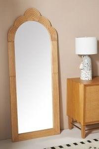 ANTHROPOLOGIE Skye Mirror ~ handcarved oak wood framed mirrors ~ home accessories