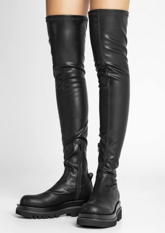 Tony Bianco Bellair Black Venezia Long Boots   over the knee   thigh high   women's chunky sole boot