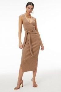 GOOD AMERICAN BELTED BODY DRESS | rib knit tank dresses