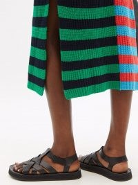 HEREU Beltra black woven-leather fisherman sandals / womens weave deigns summer shoes