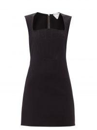 BOTTEGA VENETA Square-neck crepe mini dress ~ LBD ~ women's chic party dresses ~ women's designer evening wear ~ little black dresses