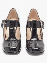 MIU MIU Square-toe patent-leather Mary Jane pumps – chunky T-bar Mary Janes