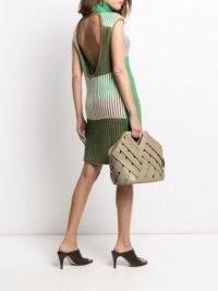 Bottega Veneta Intrecciato Point basket tote bag ~ triangular top handle bags