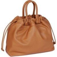 FURLA ESSENTIAL Bucket Bag S ~ brown leather drawstring top handle bags