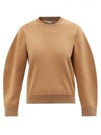 STELLA MCCARTNEY Compact-knit sweater in camel