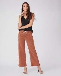 PAIGE Carly Wide Leg Pant Vintage Mocha Bisque | women's light brown casual trousers