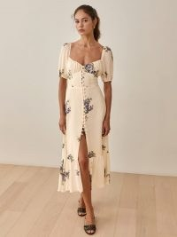 REFORMATION Darla Dress / romantic floral ruched bust dresses