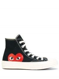Comme Des Garçons Play x Converse 70 Hi sneakers   womens black canvas retro trainers   women's vintage style high top trainer