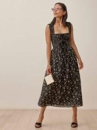 REFORMATION Darla Dress / floral smocked bodice dresses