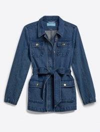 Draper James Denim Field Jacket | womens casual tie waist jackets