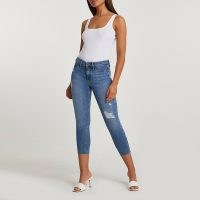 Denim Molly mid rise crop jeans | cropped skinnies | distressed
