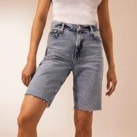 RIVER ISLAND Denim RI Studio bermuda shorts | frayed hems