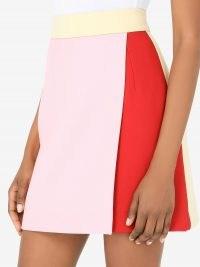 Dolce & Gabbana colour-block high-waisted skirt ~ Italian made mini skirts