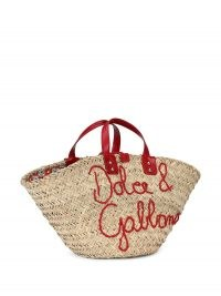 Dolce & Gabbana Kendra logo-embroidered raffia tote bag | womens cute summer basket bags | women's designer accessories